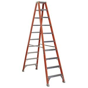 Louisville 10-ft Fiberglass 300-lb Type IA Step Ladder