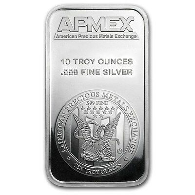 10 oz APMEX Silver Bar .999 Fine - SKU #88929