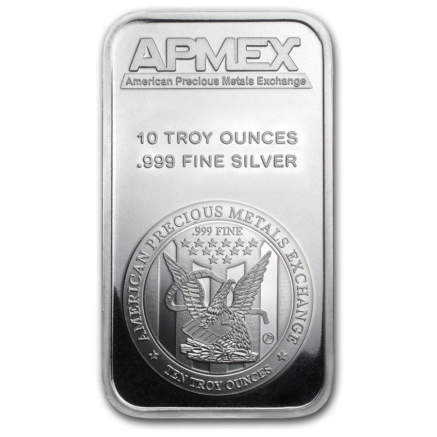 10 oz Silver Bar APMEX - eBay - SKU #88929
