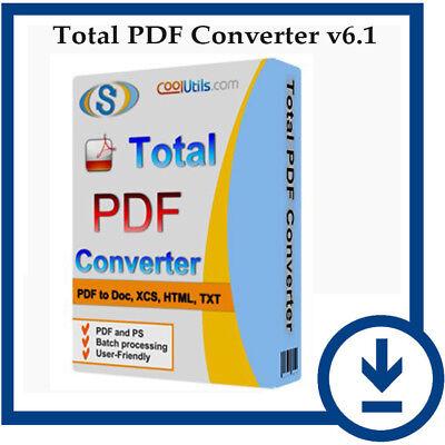 Hot  Total Pdf Converter V6 1   Pdf To Word Converter Software  Digital Download
