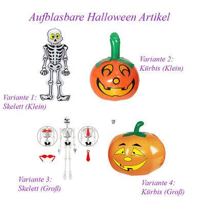 AUFBLASBARE HALLOWEEN DEKO Skelett Gerippe XL Kürbis Party Kostüm Zubehör A15 ()