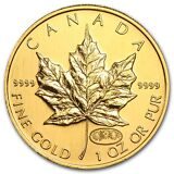 1999/2000 Canada 1 oz Gold Maple Leaf Fireworks Privy BU - SKU #98692