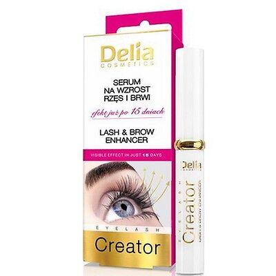 Serum Eyelash Growth Lash Longer Eyelashes Delia Visible Effects in 15 Days NEW