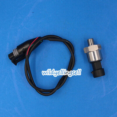 For Oil Fuel Air Water Pressure Transducer Sender Sensor 100 Psi Stainless Steel
