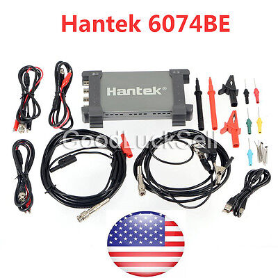 Hantek 6074be Pc Based Automotive Digital Diagnostic Oscilloscope 4ch 70mhz 1gsa