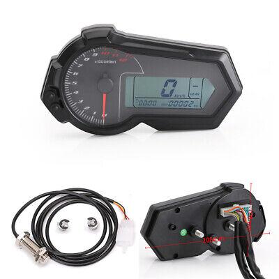 LCD Digital km/h MPH Odometer Tachometer Speedometer For Motorcycle Dirt Bike