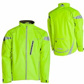 "ENDURA Luminite LED Mens Cycling Jacket, Reflective Yellow, 42-44"", excellent cond"
