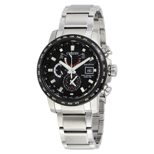 $383.99 - Citizen World Time A-T Chronograph Perpetual Eco-Drive Mens Watch AT9071-58E