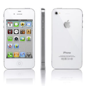 Apple iPhone 4S - 16 GB - WHITE (Factory Unlocked) Smartphone, Average Condition