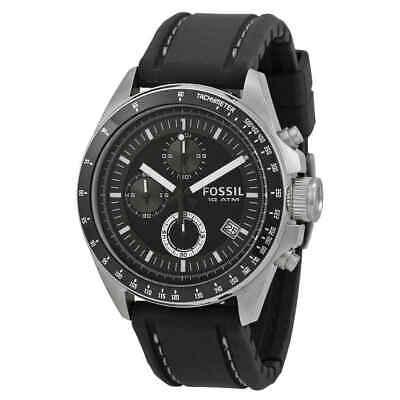 Chronograph Tachymeter Rubber (Fossil Dexter Black Dial Chronograph Men's Watch CH2573IE )