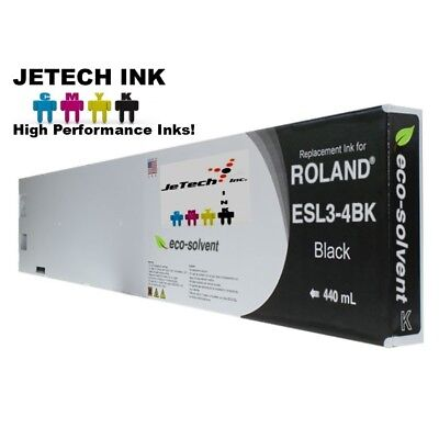 Roland Esl3-4 Eco-solvent Max Compatible 440ml Ink Cartridge - Black