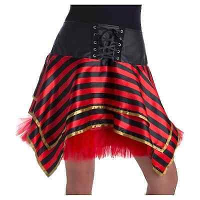 Pirat Tutu (Pirate Tutu Women's Striped One Size NWT Black & Red)
