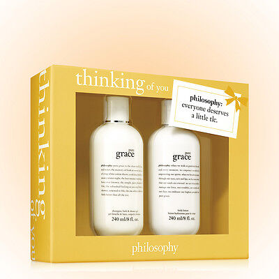 Philosophy The Care Package Bath Set-Pure Grace Gel & Lotion 8 OZ Great Gift (Care Package Gift Set)
