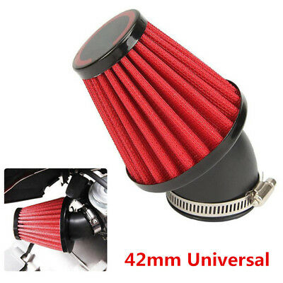 1x 42mm Universal Motorcycle Air Filter Pod 45 Angled Bend Scooter ATV Dirt Bike