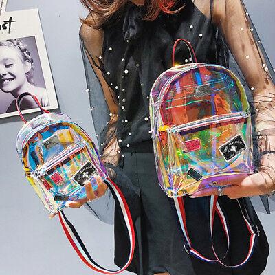 Fashion Clear Transparent See Through PVC Mini Backpack Cute School Book Bag US (Mini Book Bags)