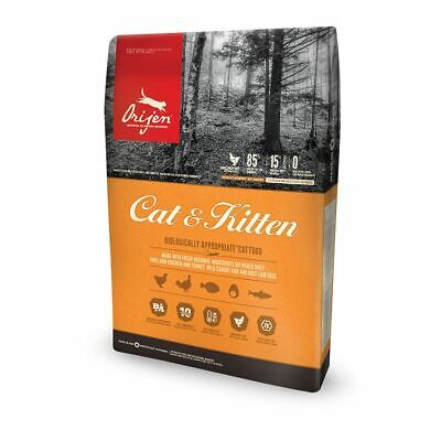 Orijen Cat & Kitten 8x 1.8kg Cat Food 14.4kg Biscuits NEW Out Of Date BBE 12/18