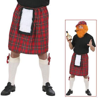 HERREN SCHOTTENROCK Karneval Fasching Schottland Kilt Schotten Rock Kostüm Party