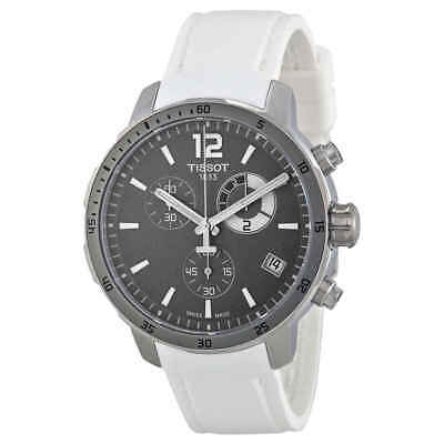 Tissot Quickster Grey Dial White Silicone Men's Watch T0954491706700