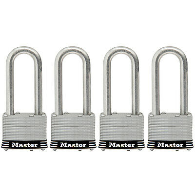 Master Lock 4-pack 1.785-in Laminated Stainless Steel Shackle Keyed Model1ssqlf