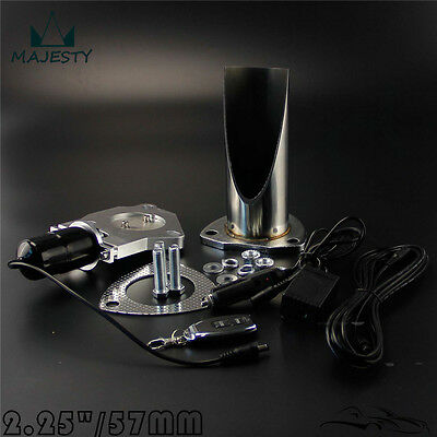 """2.25"""" Inch 57mm Electric Exhaust Cutout Remote Control Cut Pipe Stainless System"""