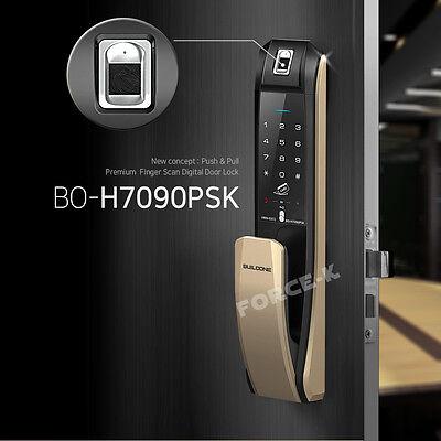 Fingerprint Lock Push-Pull Digital Doorlock BO-7090PSK Pin+RFID+Mechanical Key