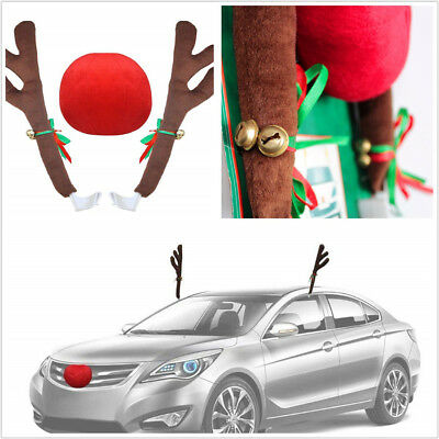 Universal 1 Set Car Automobiles Christmas Decoration Reindeer Antler Costume Kit