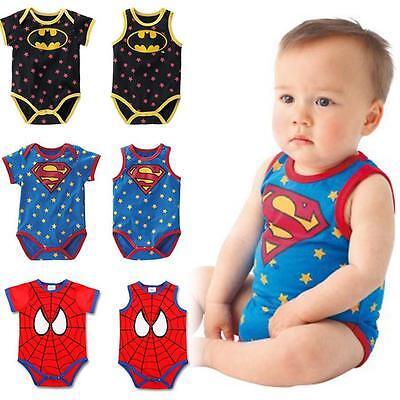 NEW BABY GIRL BOY SUPERMAN & BATMAN ROMPER COSTUME - 6-18 months - Baby Girl Superman Costume