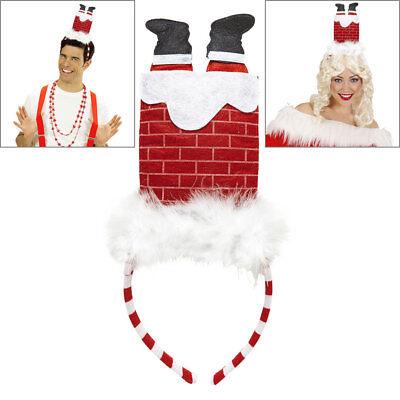 Mann Haar (HAARREIF WEIHNACHTSMANN IM KAMIN Haarband Weihnachts Kostüm Party Zubehör 05681)