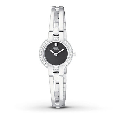 Citizen Eco-Drive Women's EW9990-54E Crystal Accents Black Dial 21mm Watch