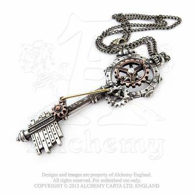 - Steampunk Zahnrad Halskette