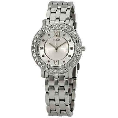Guess Blush Crystal Silver Dial Ladies Watch W1062L1