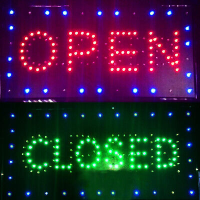Bright Led 2 In1 Open Closed Store Shop Business Sign 9.820.47 Display Neon
