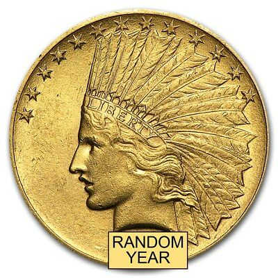 $10 Indian Gold Eagle AU (Random Year) - SKU #169457