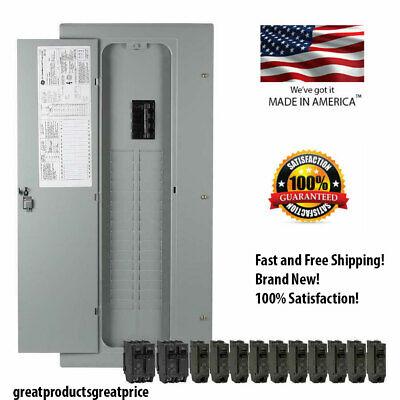 New Ge 200-amp 32-space 40-circuit Copper-bus Home Indoor Main-breaker-box Panel