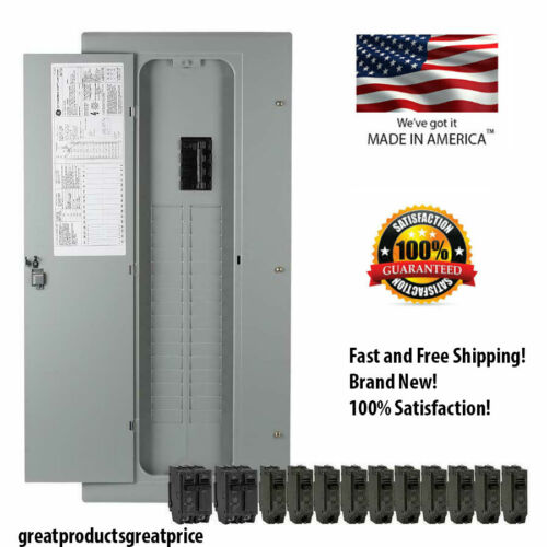NEW GE 200-Amp 32-Space 40-Circuit Copper-Bus Home Indoor Main-Breaker-Box Panel