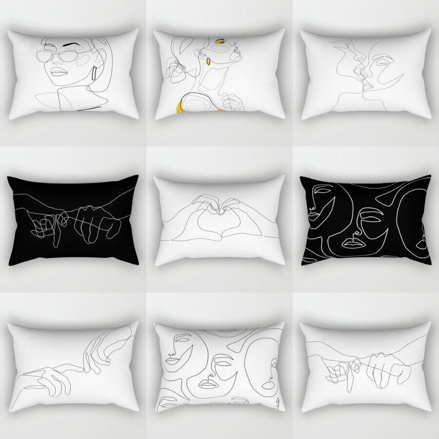 Artificial Cushion Cover Polyester Pillows shams case Cover