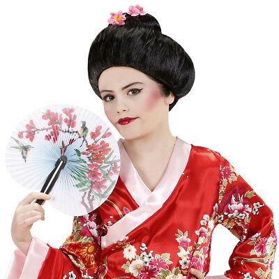 KINDER GEISHA PERÜCKE Japanerin Asiatin Manga Japan Mädchen Kostüm Party 93334