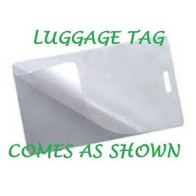 100 Luggage Tag 10 Mil Laminating Pouches Sheets Wslot 2.5 X 4.25 Quality