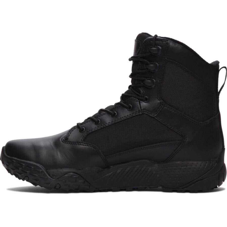 "Boots - Under Armour 1268951-001 Men's Black DWR Leather 8"" High UA Stellar Boots"