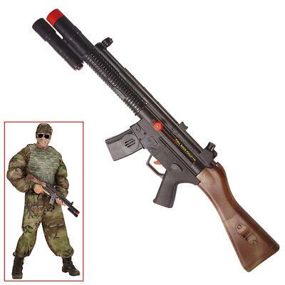 MASCHINENGEWEHR # Waffe US Armee Soldaten Spielzeuggewehr SWAT Kostüm Deko 2780