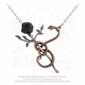 """Alchemy Gothic """"A Rose For Eve"""" Pendant (New With Tags)"""