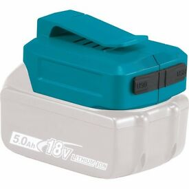 Blue Battery Dual USB Charger Adapter Tool for Makita BL18 1430 Adapter