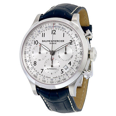 Kyпить Baume and Mercier Capeland Chronograph Blue Leather Mens Watch MOA10063 на еВаy.соm