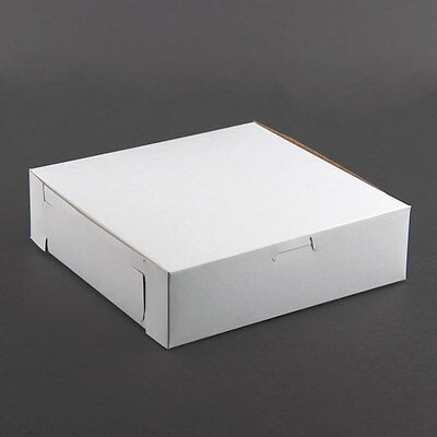 25 Count White 8x8x2-12 Bakery Or Cake Box
