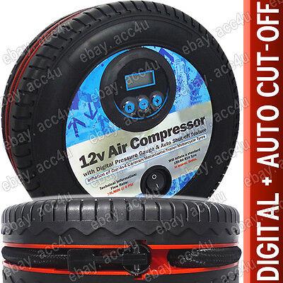 12v Coche Compacto Mini Neumático Forma Digital Calibre Aire Bomba de Compresor