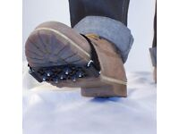 5 PAIRS - Genuine AA Snow and Ice Grips Steel studs for traction while walking - UNISEX