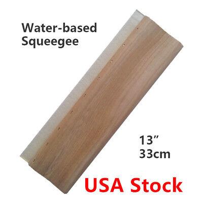 Usa 13 Silk Screen Printing Squeegee Scraper 33cm Scratch Board Waterbase- 65