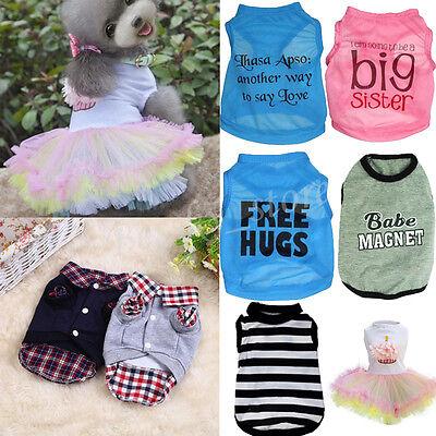 Female Dog Costumes (Unisex Pet Puppy Clothing Dogs Cat Shirt Coat Female Dogs Dress Apparel)