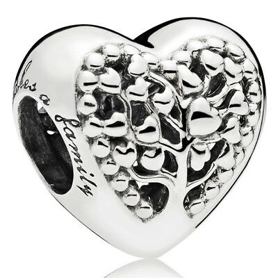 "PANDORA Charm Element 797058 ""Tree of Love"" Family Heart Herz Silber Bead"
