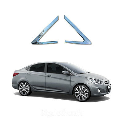 Foglight Chrome Cover Molding Trim Cover C413 For HYUNDAI 11-17 Accent Hatchback